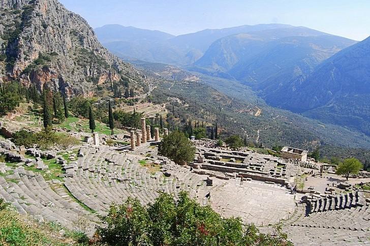 Древнегреческий город Дельфы