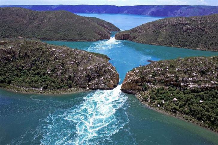 Горизонтальные водопады