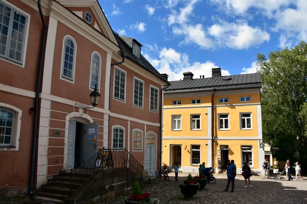 Дома в Старом городе Порвоо.