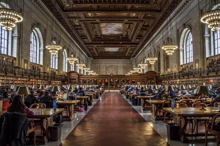 Нью-Йоркская публичная библиотека.