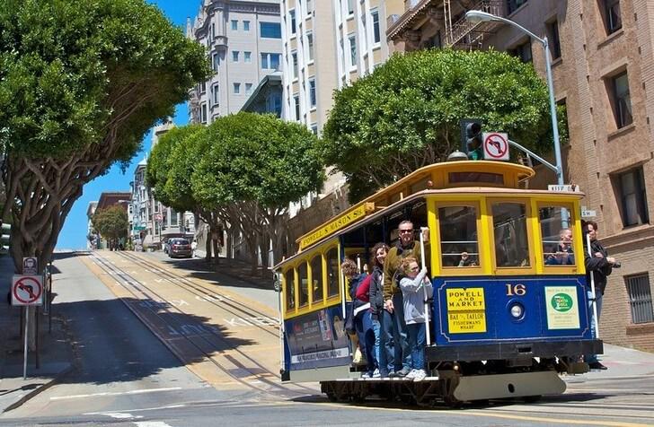 Канатные трамваи Сан-Франциско.